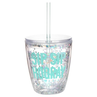 Slant Collections Sip and Sparkle 10oz Double Wall Tumbler - Sip sip hooray
