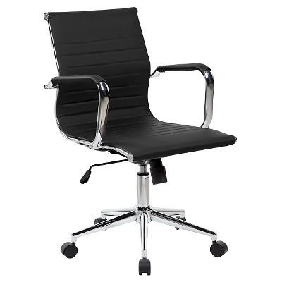 modern executive office chair ashley furniture swivel chrome black techni mobili target medium back