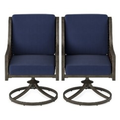Wicker Swivel Patio Chair Covers And Linens John R Fabron 2pk Rocking Dining Navy Rocker Threshold