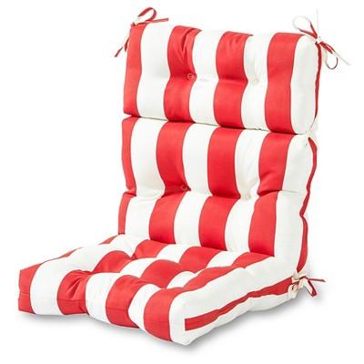 high back lawn chair cushions foam for outdoor cushion cabana red greendale home fashions