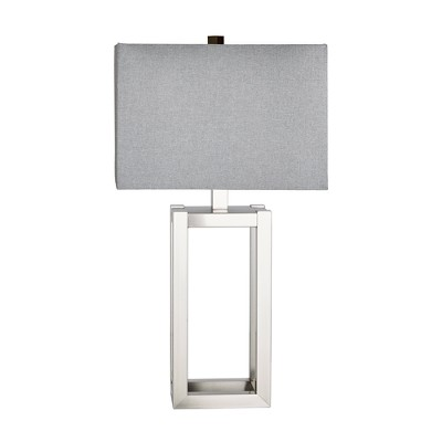 "Hampton Table Lamp Silver 16.5"" x 29.5"" (Lamp Only)"
