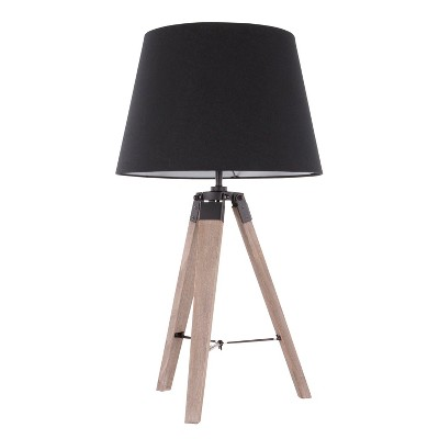 Compass Mid - Century Modern Table Lamp Gray (Lamp Only) - LumiSource