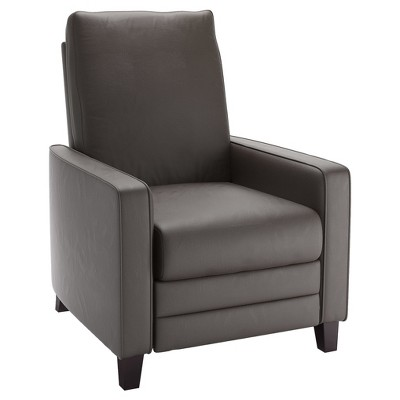 pop up recliner chairs black side chair kelsey brownish gray bonded leather corliving target