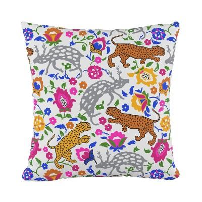 18 x18 leopard print square throw pillow skyline furniture
