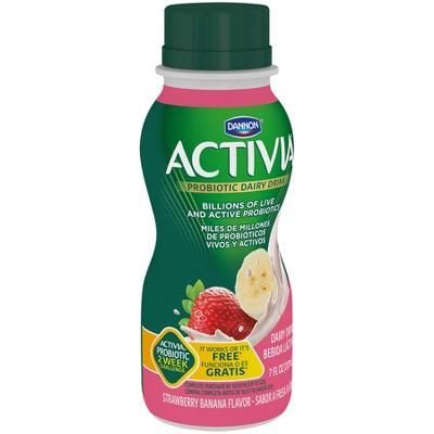 Dannon Activia Strawberry Banana Flavored Probiotic Yogurt