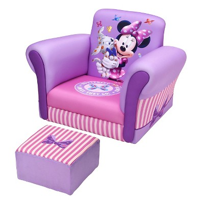 toddler chair and ottoman hanging very upholstered with disney minnie mouse delta children target