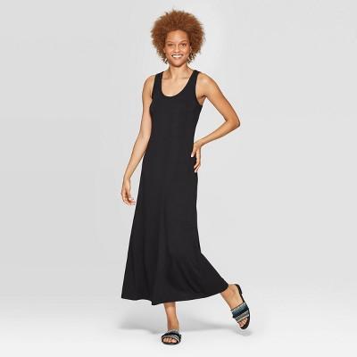 Women's Regular Fit Sleeveless Crewneck Knit Maxi Dress - A New Day™