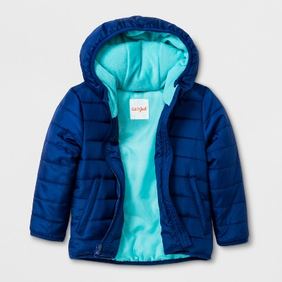 Toddler Boys' Hooded Fashion Jacket - Cat & Jack™ Blue