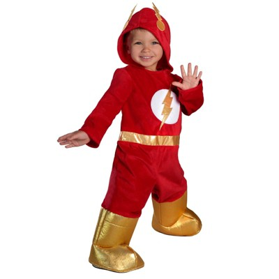 Baby The Flash Jumpsuit Halloween Costume 12-18M - Princess Paradise