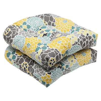 pillow perfect 2 piece outdoor wicker seat cushions lois