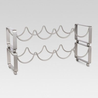 8 Bottle Steel Wine Rack - Threshold™