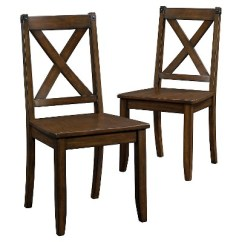 X Back Chairs Under Chair Storage Dining With Metal Accents Set Of 2 Mahogany About This Item