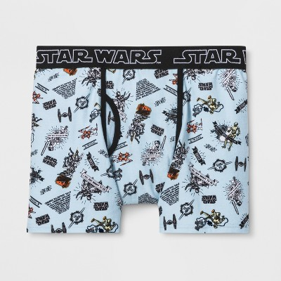 Men's Star Wars Space Boxer Briefs - Light Blue