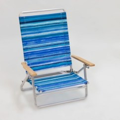 Portable Beach Chair Big Comfy Chairs Outdoor Blue White Stripe Evergreen Target