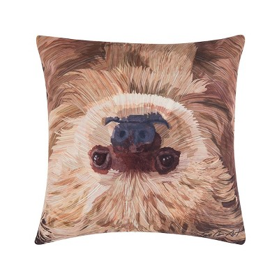 c f home 18 x 18 sloth to do indoor outdoor decorative throw pillow
