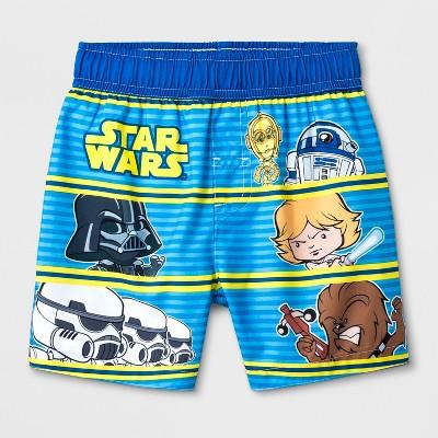 Toddler Boys' Star Wars Swim Trunks - Blue