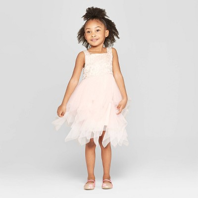 Mia & Mimi Toddler Girls' Butterfly A-Line Dress - Light Pink
