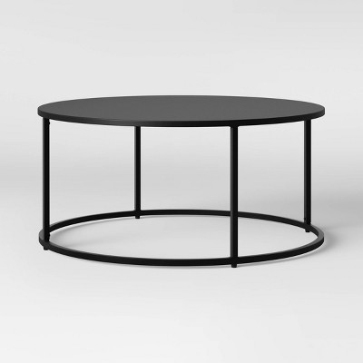 glasgow round metal coffee table black project 62