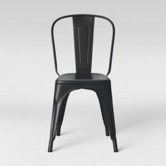 High Back Dining Chair Infant Bouncy Carlisle Metal Matte Black Threshold Target