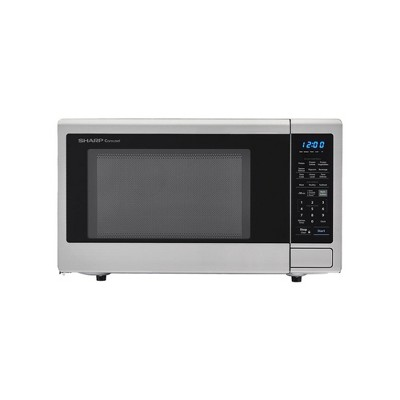 sharp xl family 2 2 cu ft stainless steel microwave oven refurbished