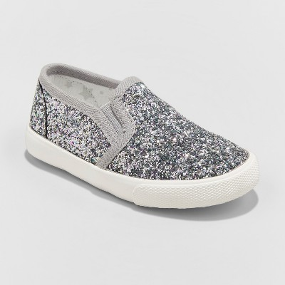Toddler Girls' Madigan Slip on Glitter Sneakers- Cat & Jack™