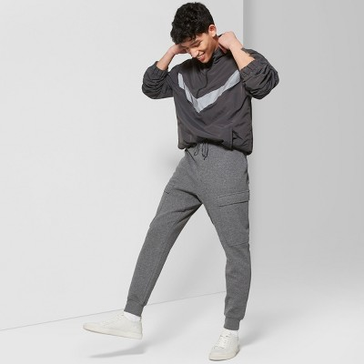 Men's Mid-Rise Knit Cargo Jogger Pants - Original Use™ Quill Gray