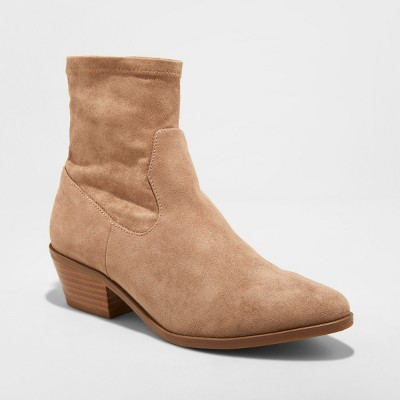 Women's Loraine Microsuede Western Sock Booties - Universal Thread™