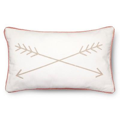 """Arrow Throw Pillow - 20""""x12"""" - Tan - Pillowfort™"""