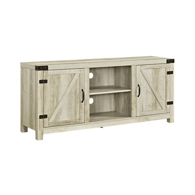 "58"" Barn Door TV Stand with Side Doors - Saracina Home"