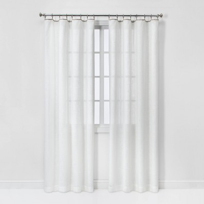 Sheer Contrast Edge with Rings Curtain Panels - Threshold™