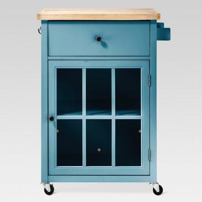 wooden kitchen cart aid stand mixer windham wood top threshold target