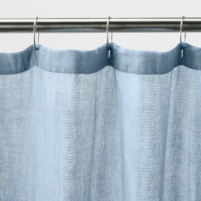 blue shower curtains target