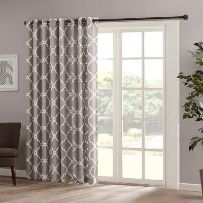 Sereno Fretwork Print Patio Curtain Panel