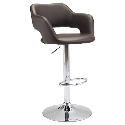 "Modern Faux Leather Adjustable 25"" Bar Chair - ZM Home"