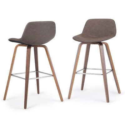 Cacey Bentwood Counter Height Stool Set of 2  - Wyndenhall