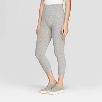 Women's High Waist Cotton Capri Leggings - A New Day™ Heather Gray