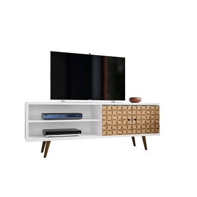 """62.99"""" Liberty Mid Century Modern TV Stand with 2 Shelves and 2 Doors - Manhattan Comfort"""