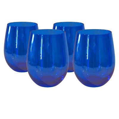 Artland 17oz 4pk Luster Stemless Wine Glasses