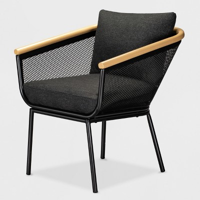 bangor patio dining chair black project 62