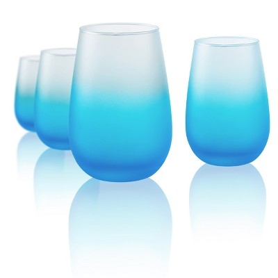 Artland 12oz 4pk Frost Shadow Stemless Wine Glasses