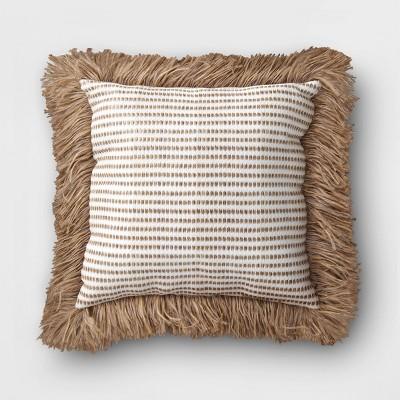 outdoor decorative throw pillow white brown opalhouse