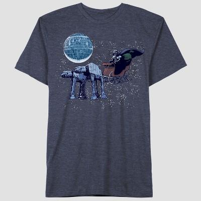 Toddler Boys' Star Wars Darth Short Sleeve T-Shirt - Navy