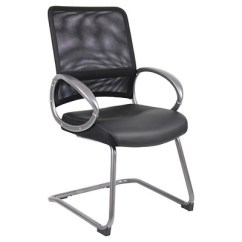 Pewter Chair Office Chairs Without Wheels Uk Mesh Back With Finish Guest Black Boss Products