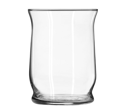 "Glass Hurricane Vase Clear 6"" - Libbey"