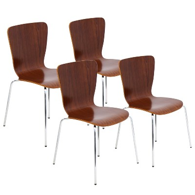 dining chairs set of 4 target swivel chair couch lumisource bentwood stacker walnut