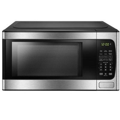 danby 9 cu ft countertop microwave in stainless steel