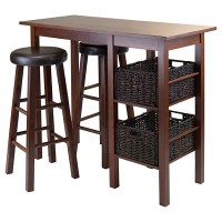 5 Piece Egan Set Breakfast Table with Baskets And Bar