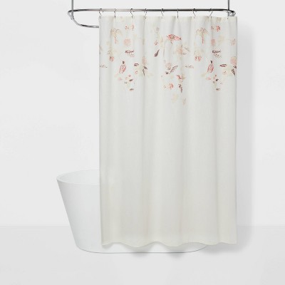 engineered floral shower curtain shadow rose threshold