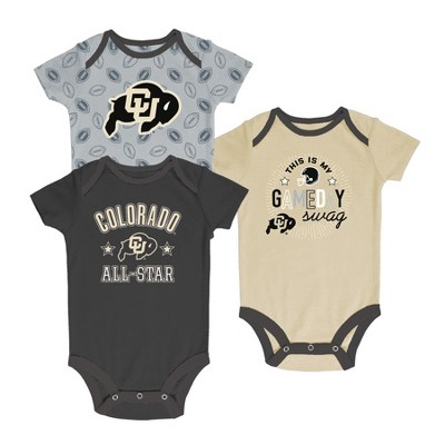 Colorado Buffaloes Baby Boy Short Sleeve 3pk Bodysuit