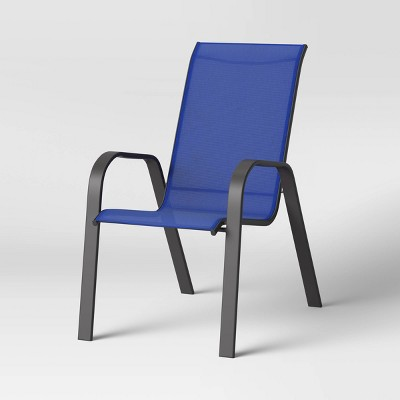 sling stacking patio chair blue room essentials